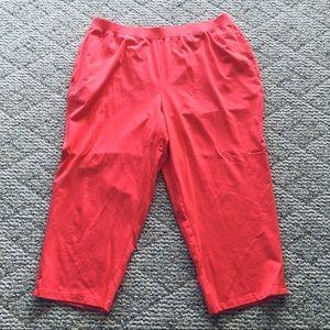 Catherines Salmon Pink Capris Leggings 0X